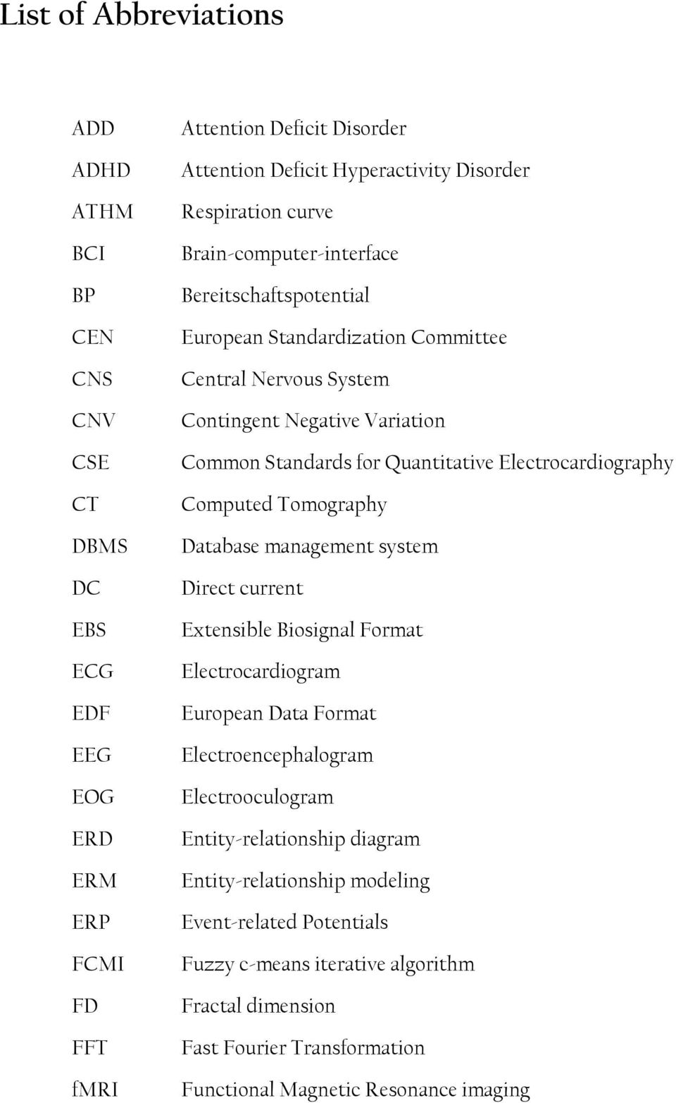 Electrocardiography Computed Tomography Database management system Direct current Extensible Biosignal Format Electrocardiogram European Data Format Electroencephalogram Electrooculogram