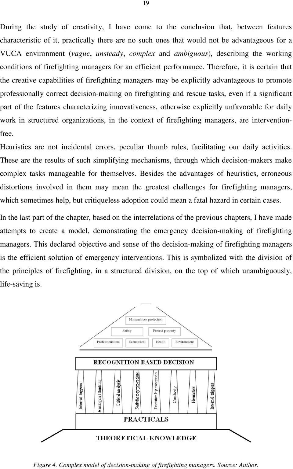 Therefore, it is certain that the creative capabilities of firefighting managers may be explicitly advantageous to promote professionally correct decision-making on firefighting and rescue tasks,
