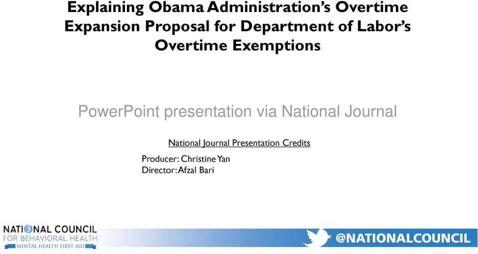 PowerPoint presentation via National Journal National