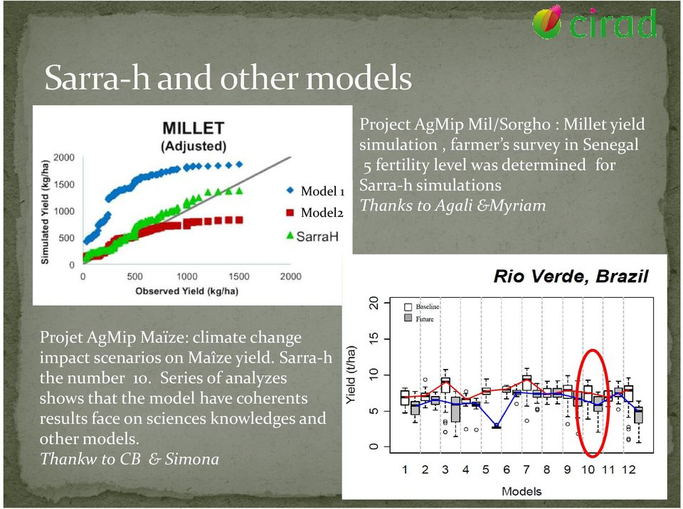 Series of analyzes shows that the model have coherents results face on sciences knowledges and