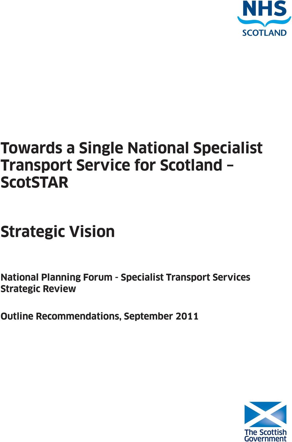 National Planning Forum - Specialist Transport