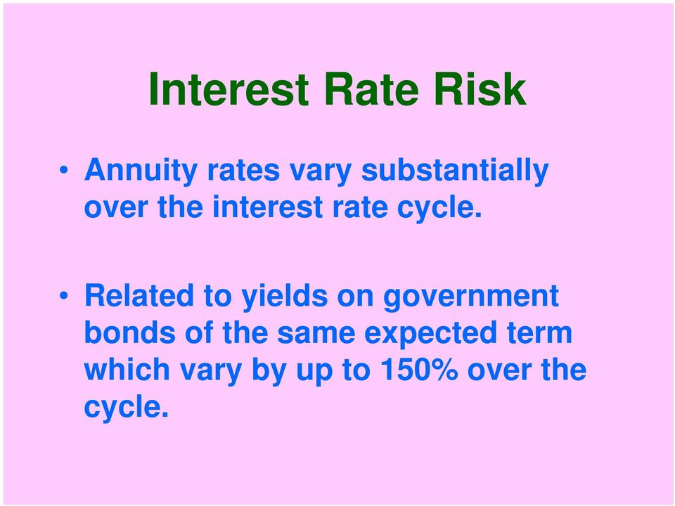 Related to yields on government bonds of the