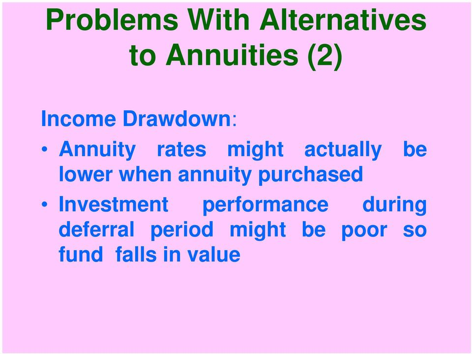 when annuity purchased Investment performance