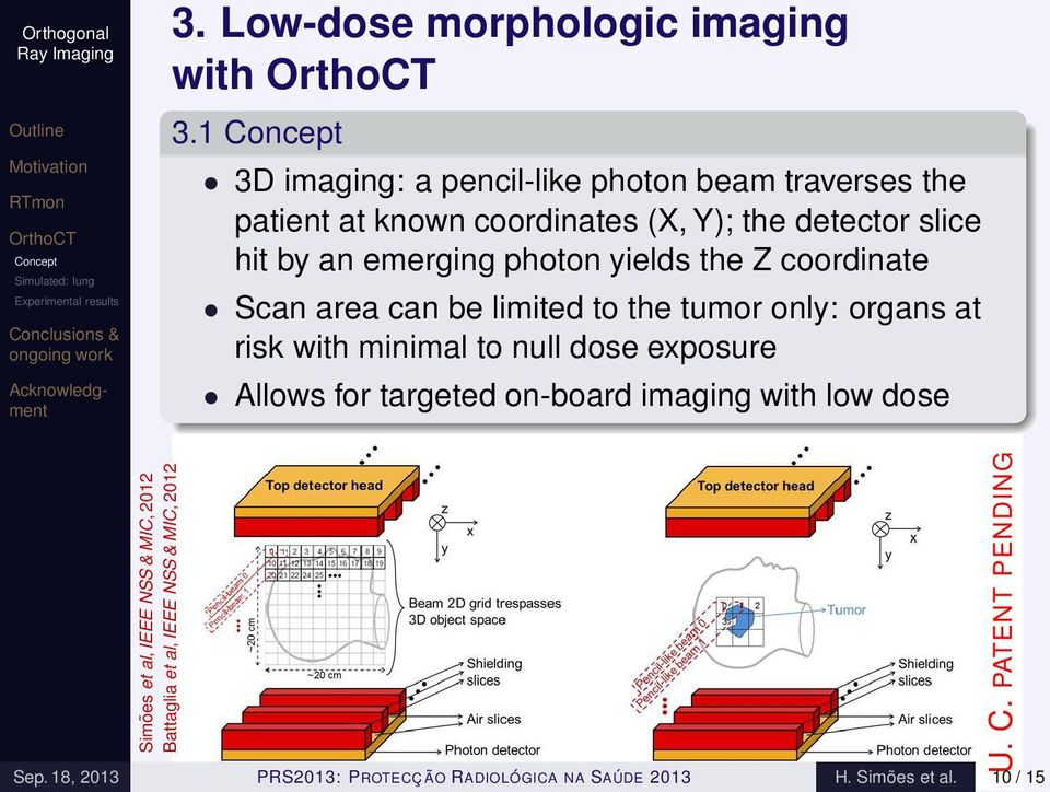 photon yields the Z coordinate Scan area can be limited to the tumor only: organs at risk with minimal to null dose exposure Allows