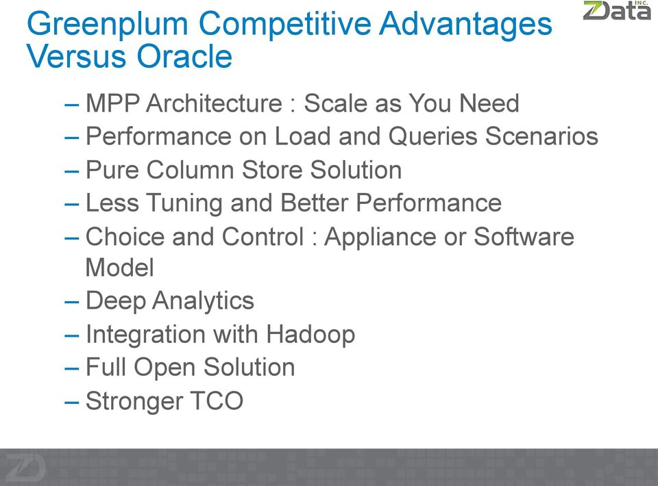 Solution Less Tuning and Better Performance Choice and Control : Appliance