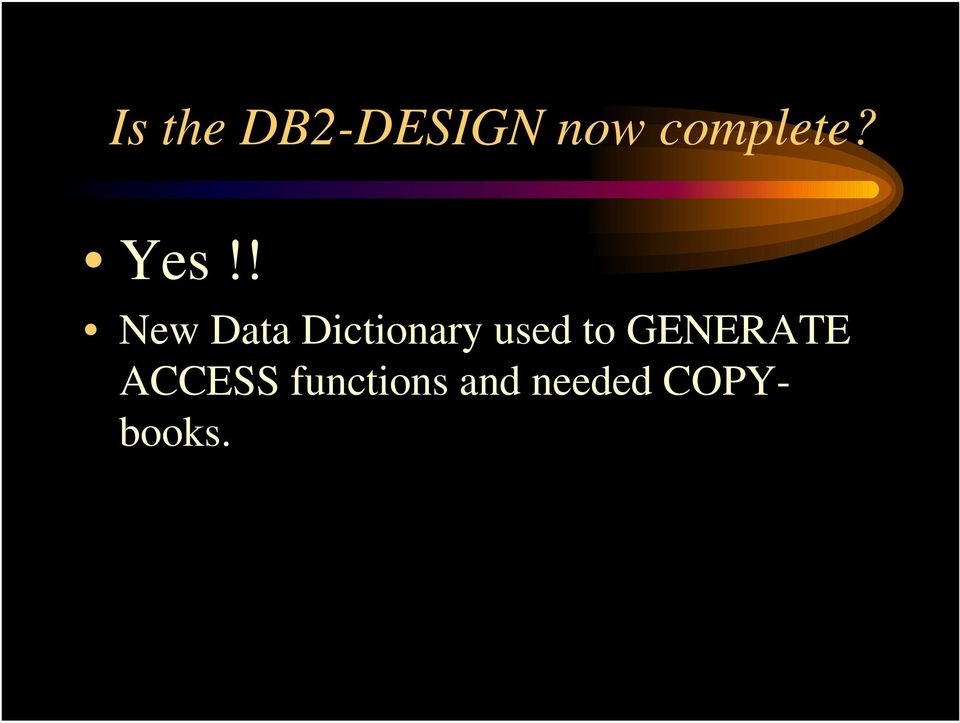 ! New Data Dictionary used