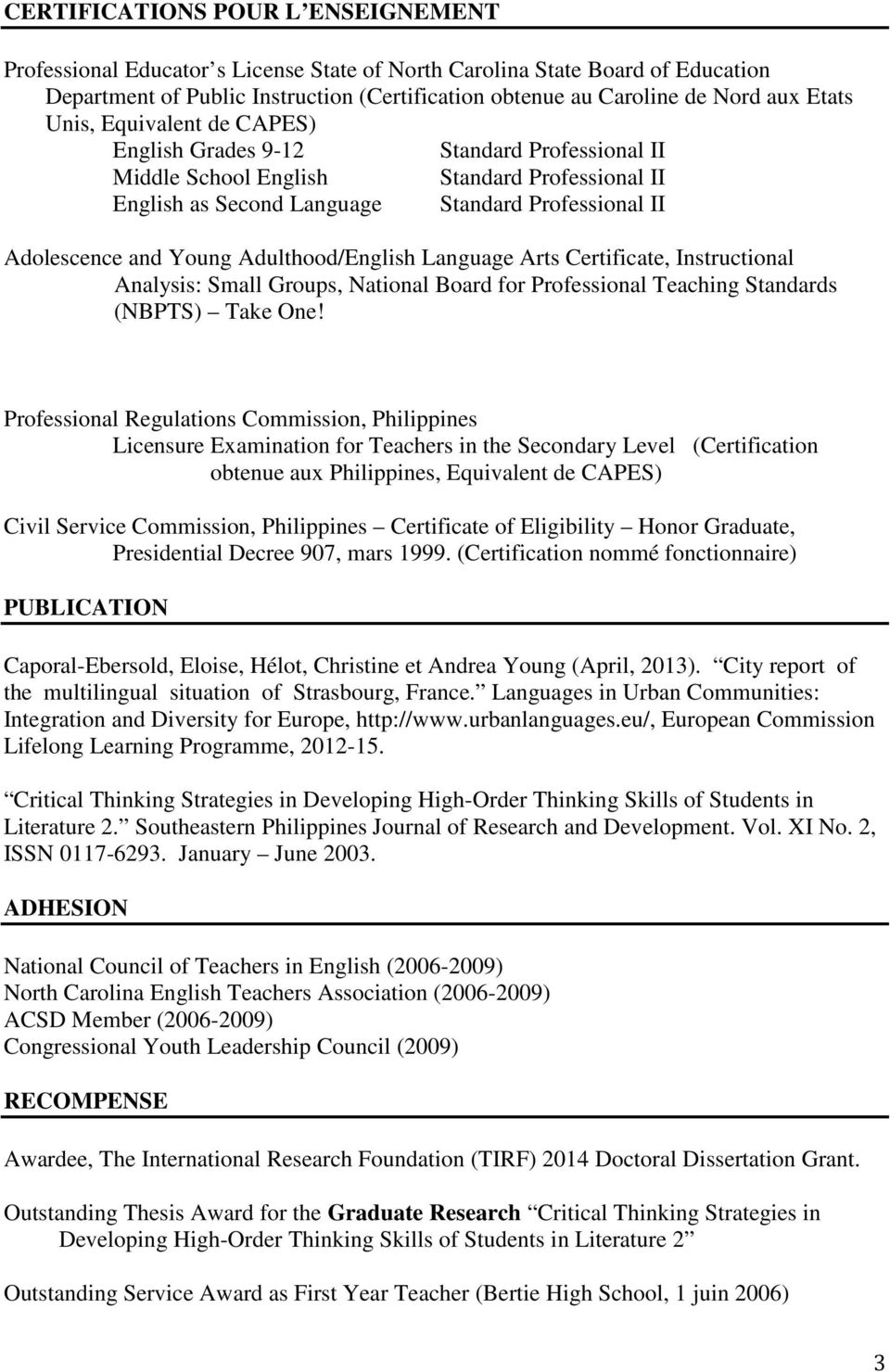 Adulthood/English Language Arts Certificate, Instructional Analysis: Small Groups, National Board for Professional Teaching Standards (NBPTS) Take One!