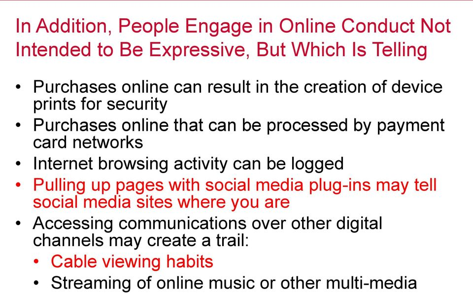 browsing activity can be logged Pulling up pages with social media plug-ins may tell social media sites where you are