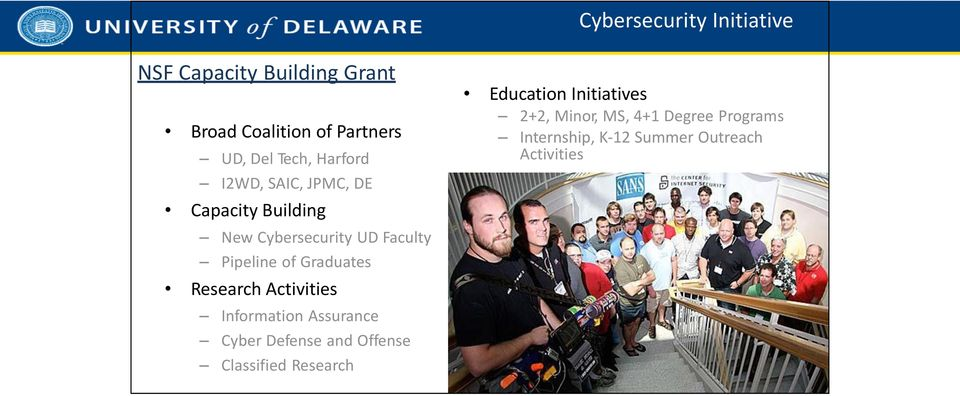 Graduates Research Activities Information Assurance Cyber Defense and Offense Classified