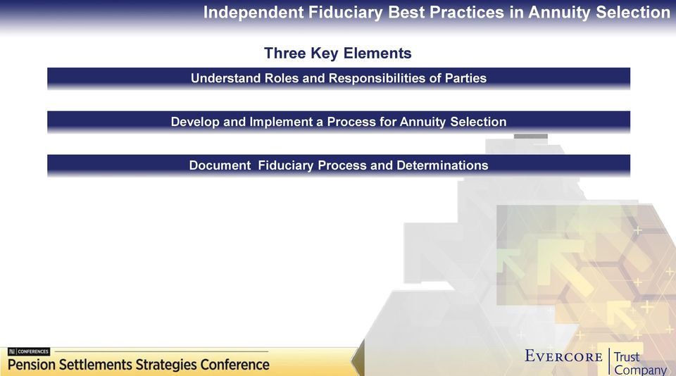 Responsibilities of Parties Develop and Implement a