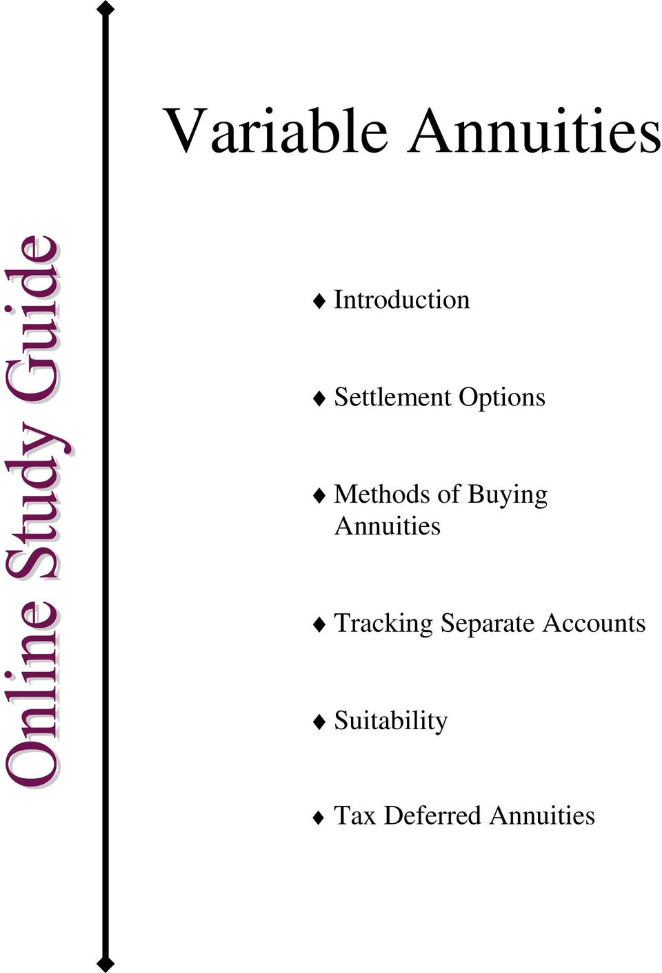 Buying Annuities Tracking Separate