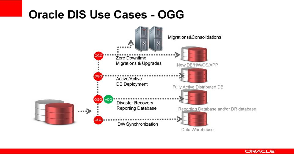 Fully Active Distributed DB OGG ADG Disaster Recovery Reporting Database