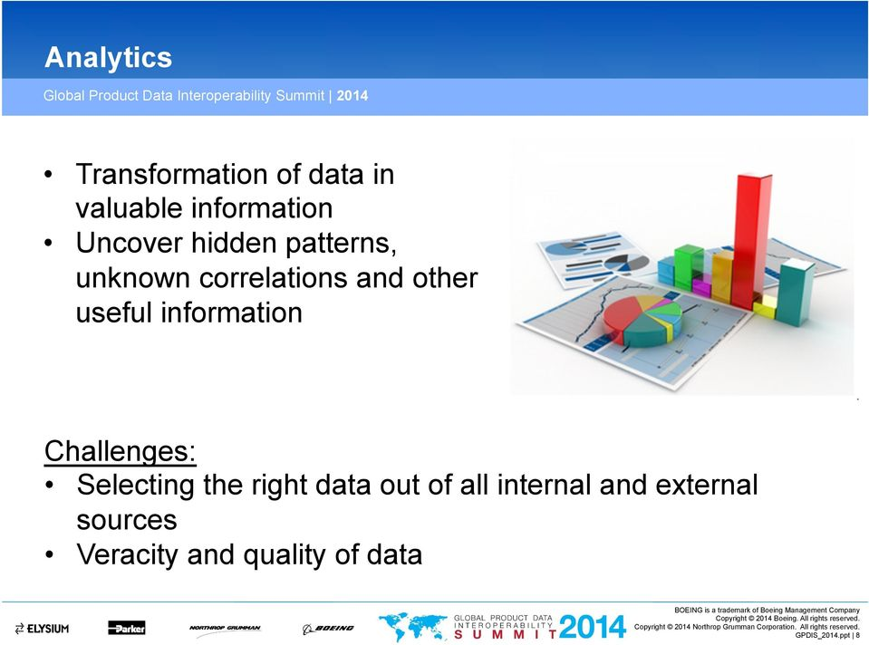Challenges: Selecting the right data out of all internal and