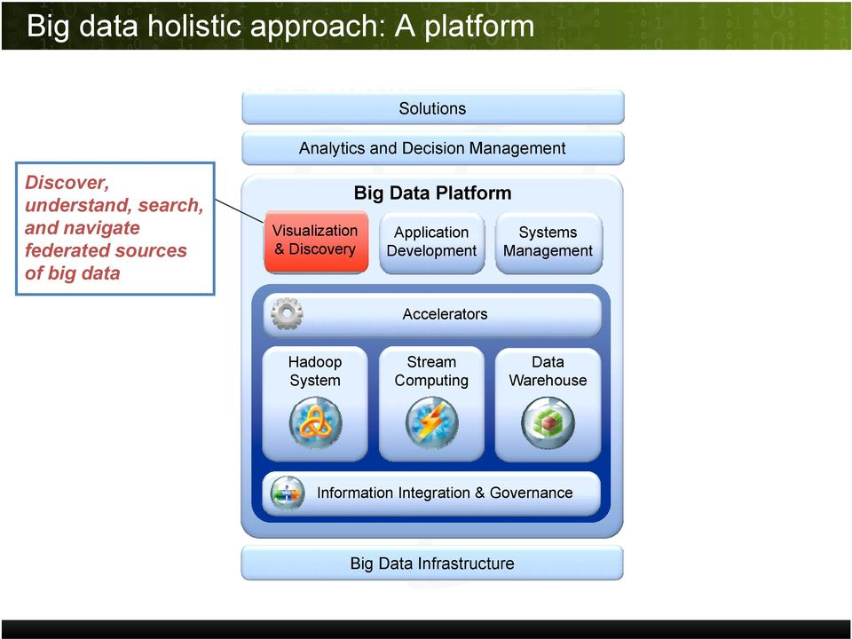 Visualization & Discovery Big Data Platform Application Development Systems Management