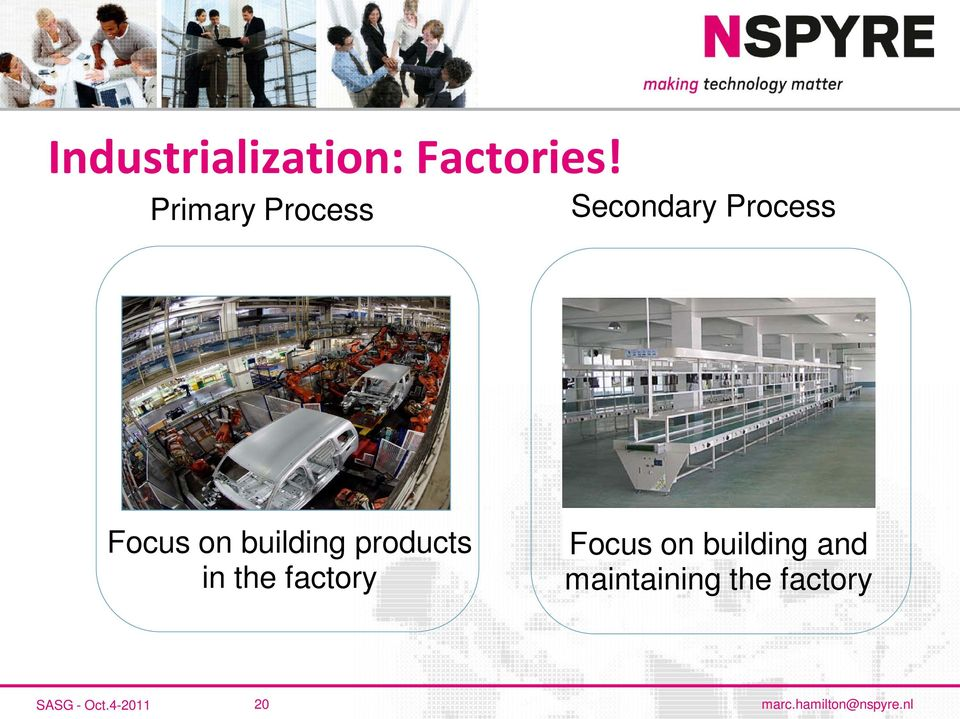 building products in the factory Focus on