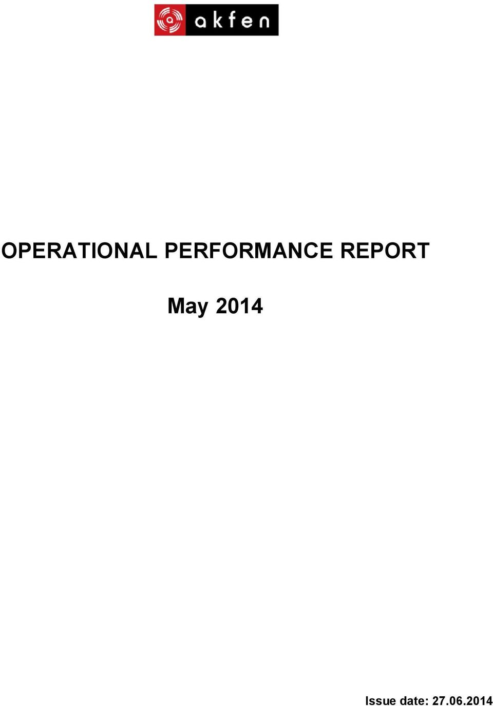 REPORT May 2014