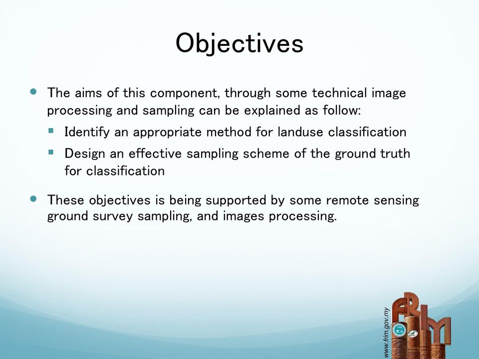 classification Design an effective sampling scheme of the ground truth for classification