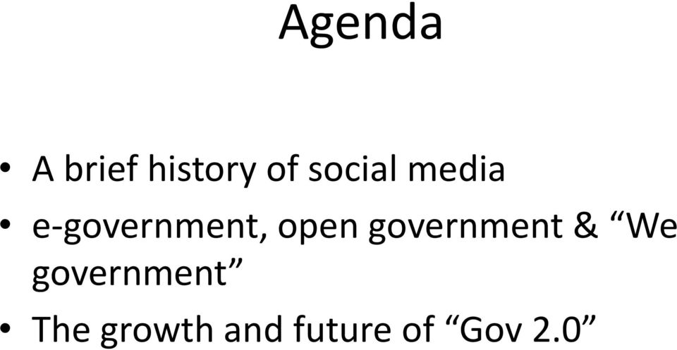 open government & We