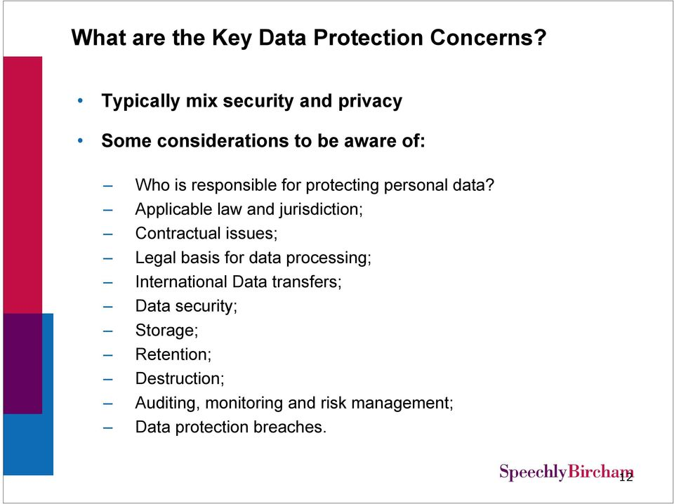 protecting personal data?