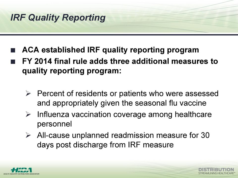 assessed and appropriately given the seasonal flu vaccine Influenza vaccination coverage among