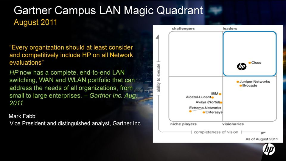 switching, WAN and WLAN portfolio that can address the needs of all organizations, from small to