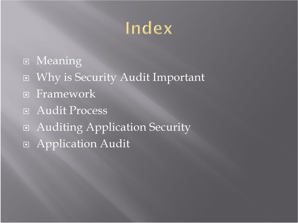 Audit Process Auditing