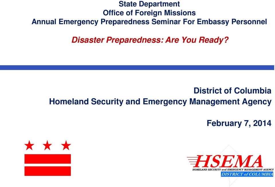 Disaster Preparedness: Are You Ready?