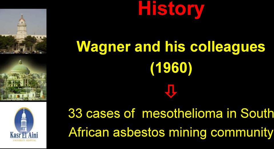 of mesothelioma in South