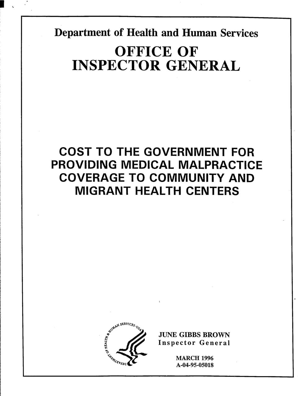 COVERAGE TO COMMUNITY AND MIGRANT HEALTH CENTERS se~wcl~.&.