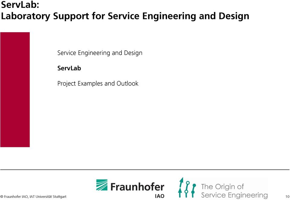 Design ServLab Project Examples and
