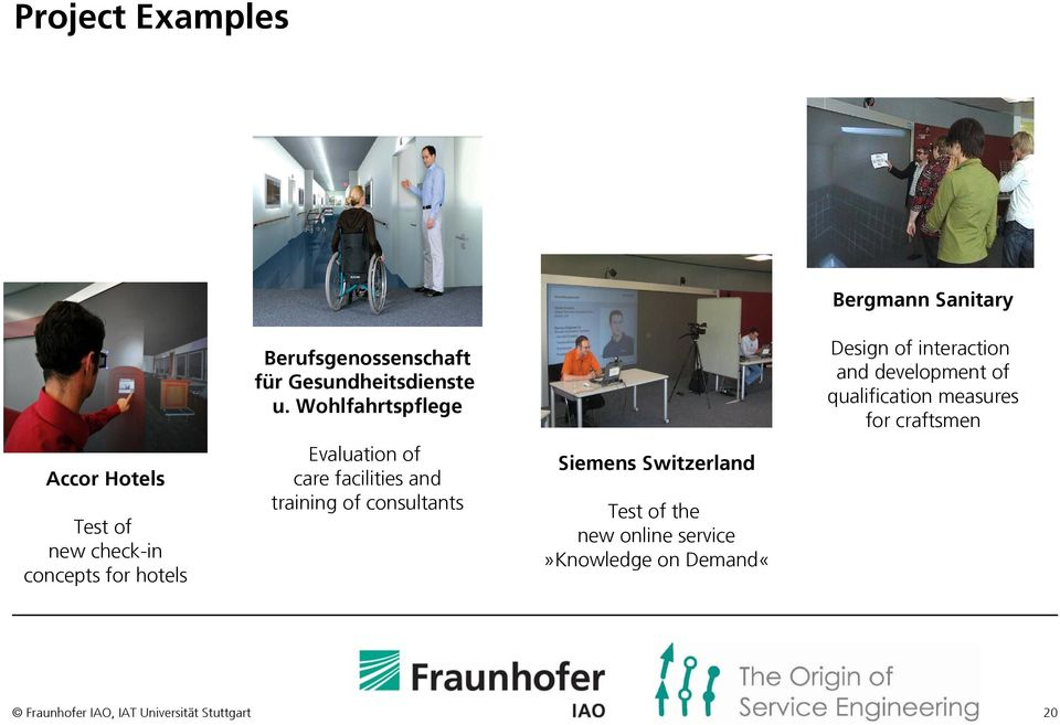 Wohlfahrtspflege Evaluation of care facilities and training of consultants Siemens Switzerland Test