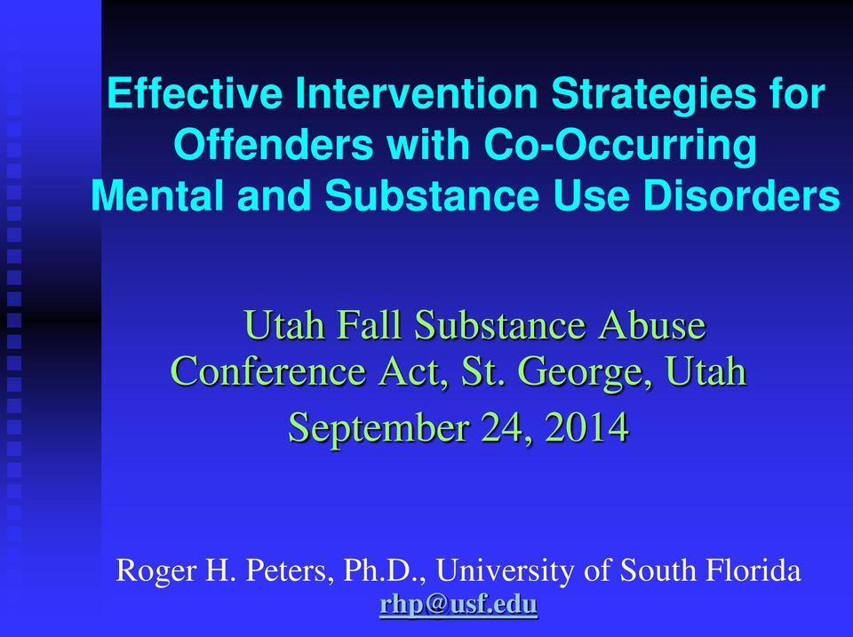 Substance Abuse Conference Act, St.
