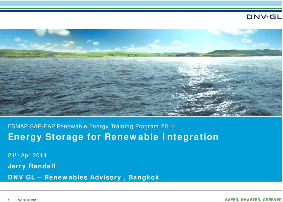 th Apr 2014 Jerry Randall DNV GL Renewables