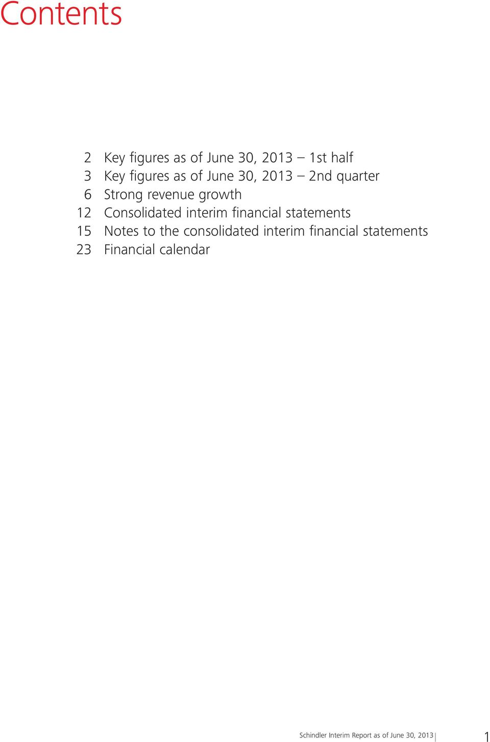 financial statements 15 Notes to the consolidated interim financial