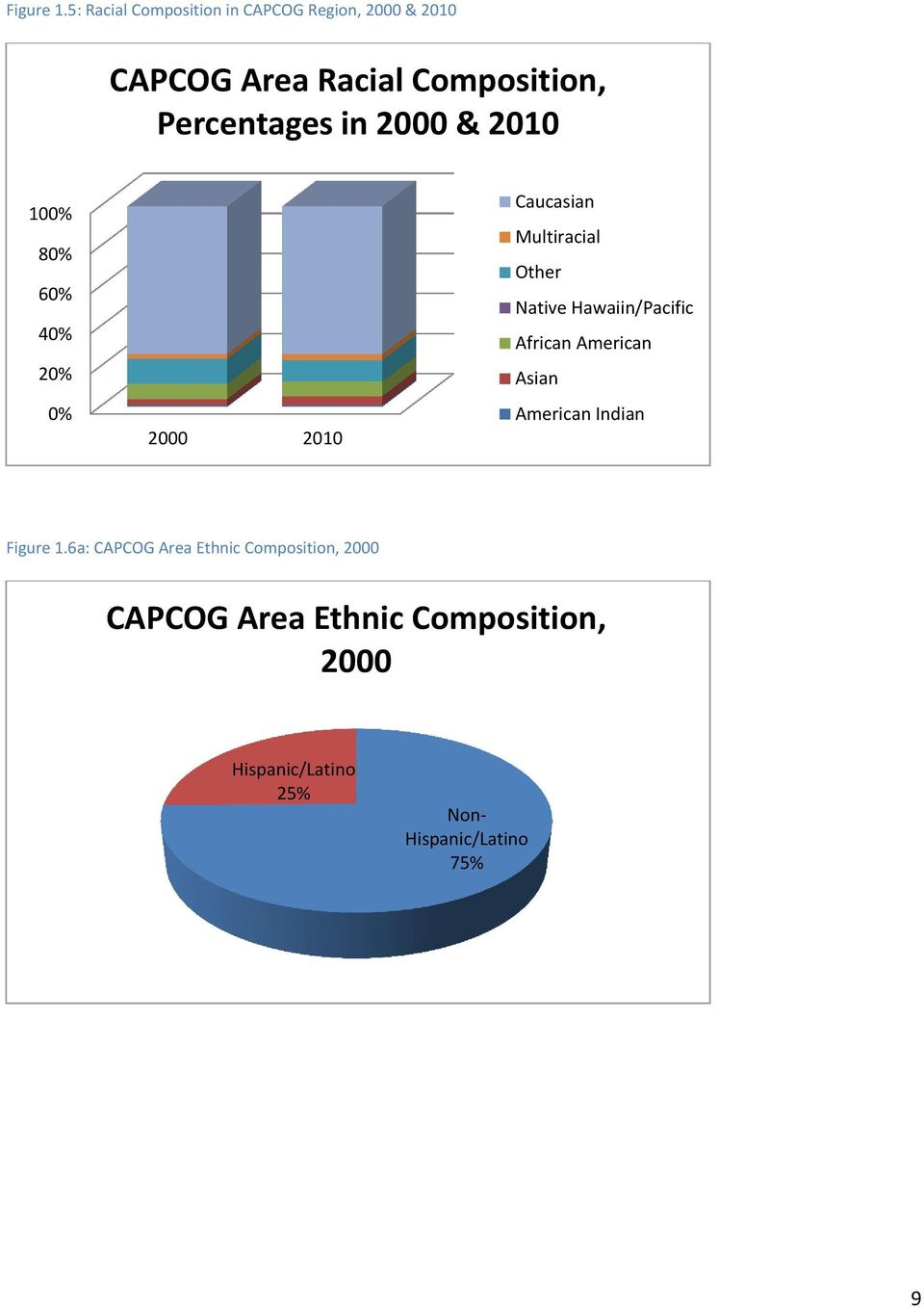 Percentages in 2000 & 2010 100% 80% 60% 40% 20% 0% 2000 2010 Caucasian Multiracial Other
