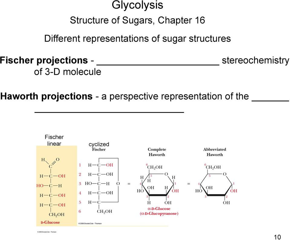 projections - stereochemistry of 3-D molecule Haworth