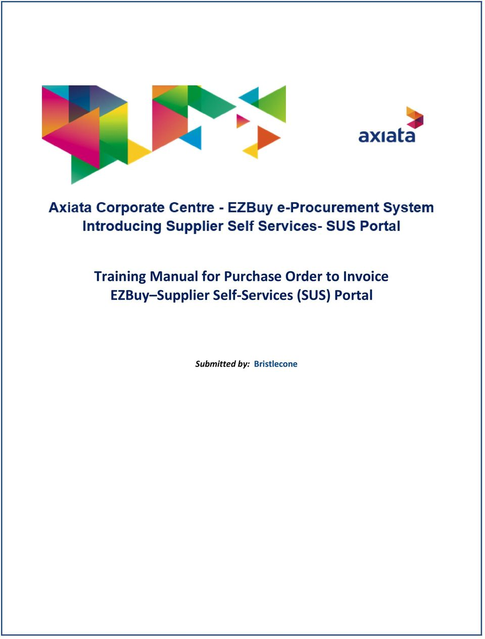 Supplier Self-Services (SUS)