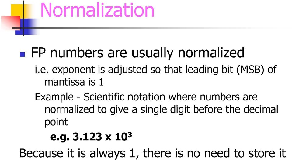 usually normalized