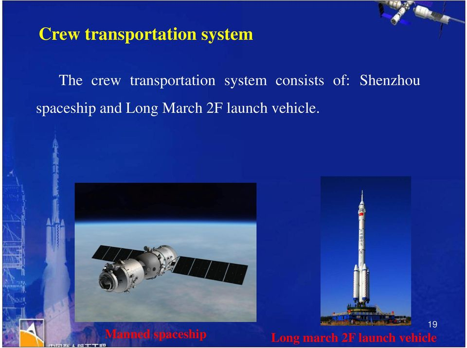 Shenzhou spaceship and Long March 2F