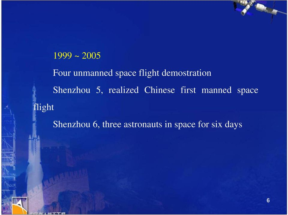Chinese first manned space flight