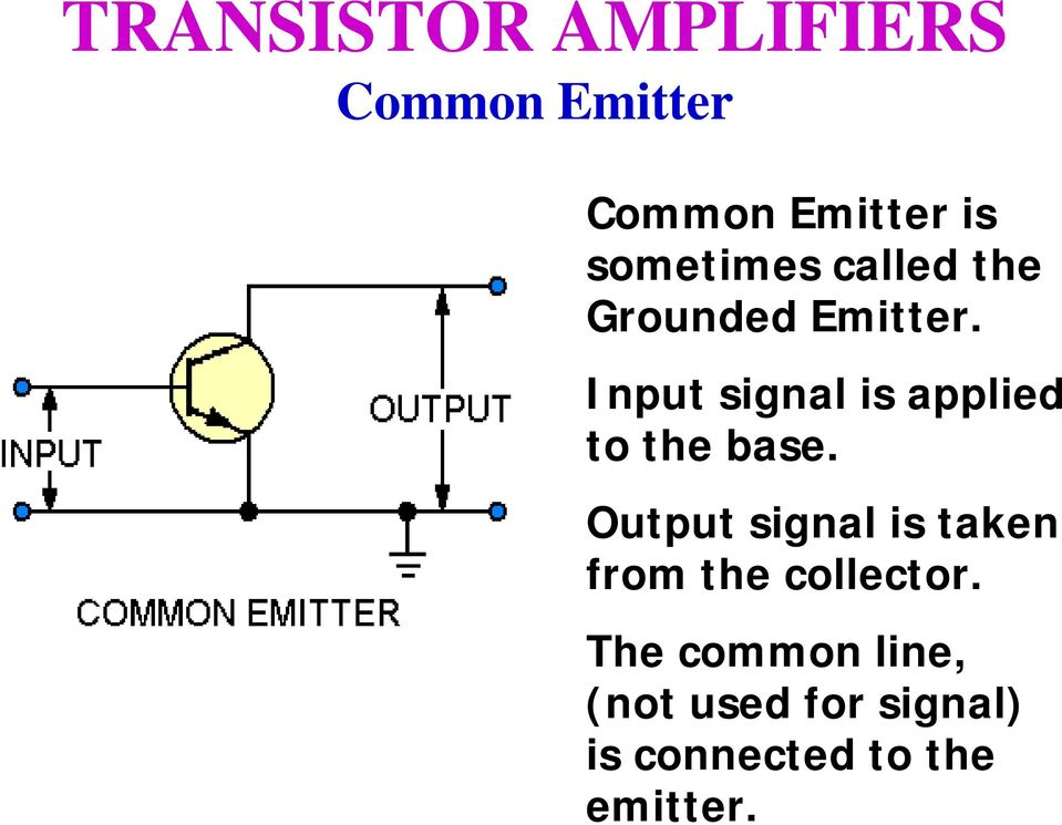 Output signal is taken from the collector.