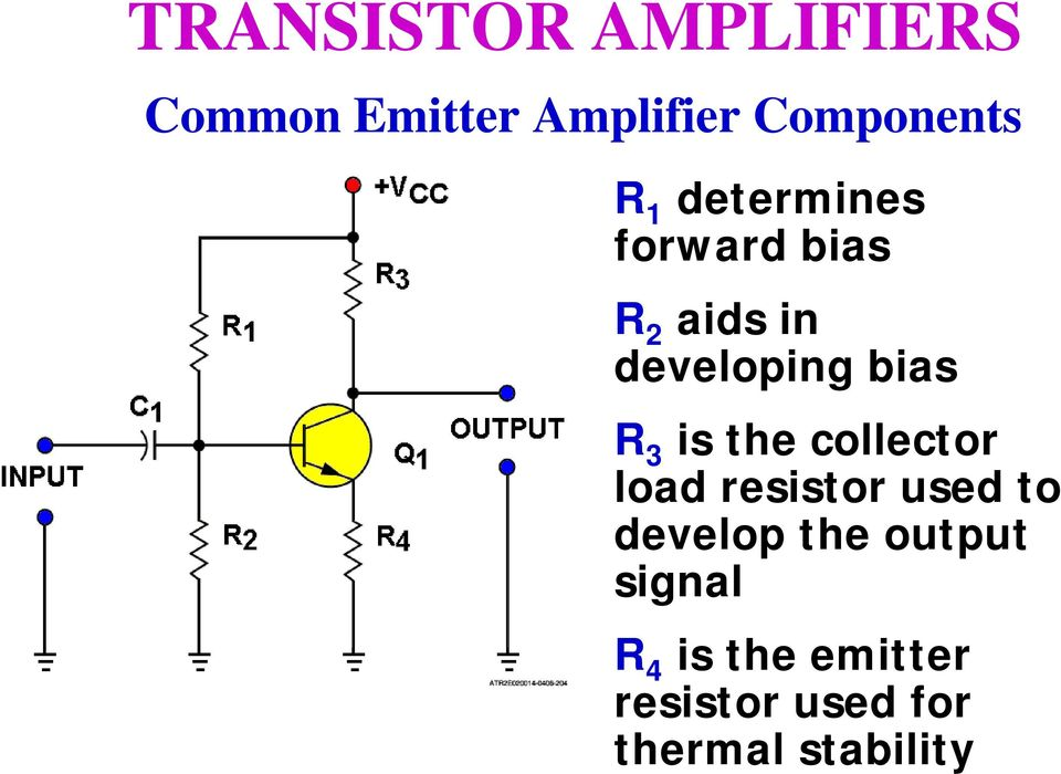 collector load resistor used to develop the output