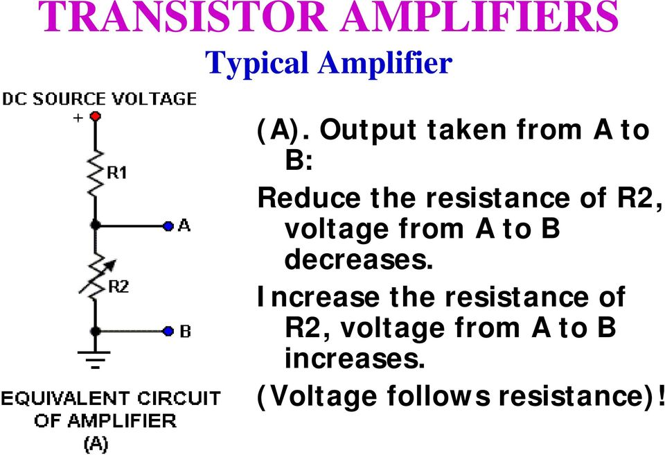of R2, voltage from A to B decreases.