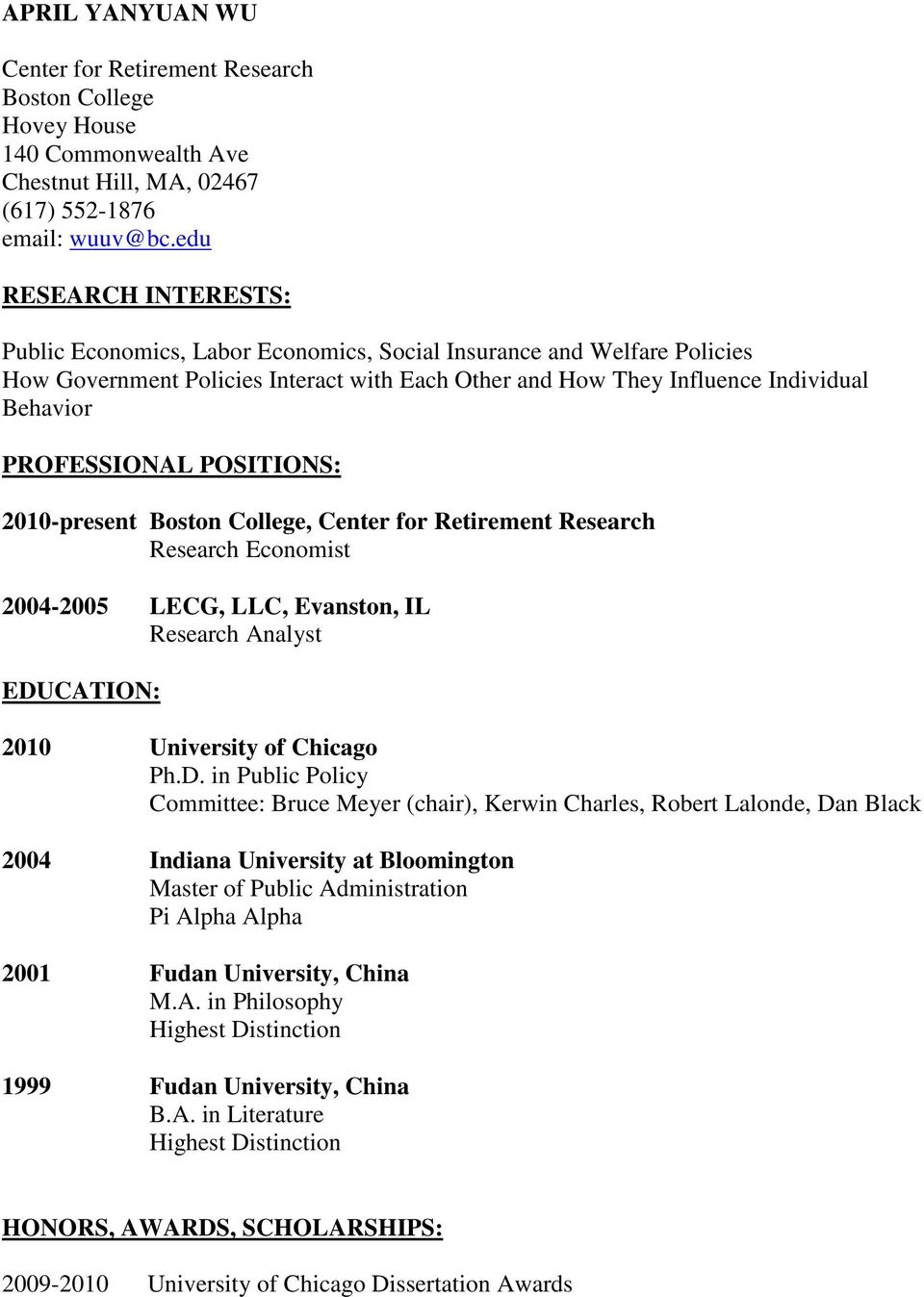 center for retirement research at boston college working papers