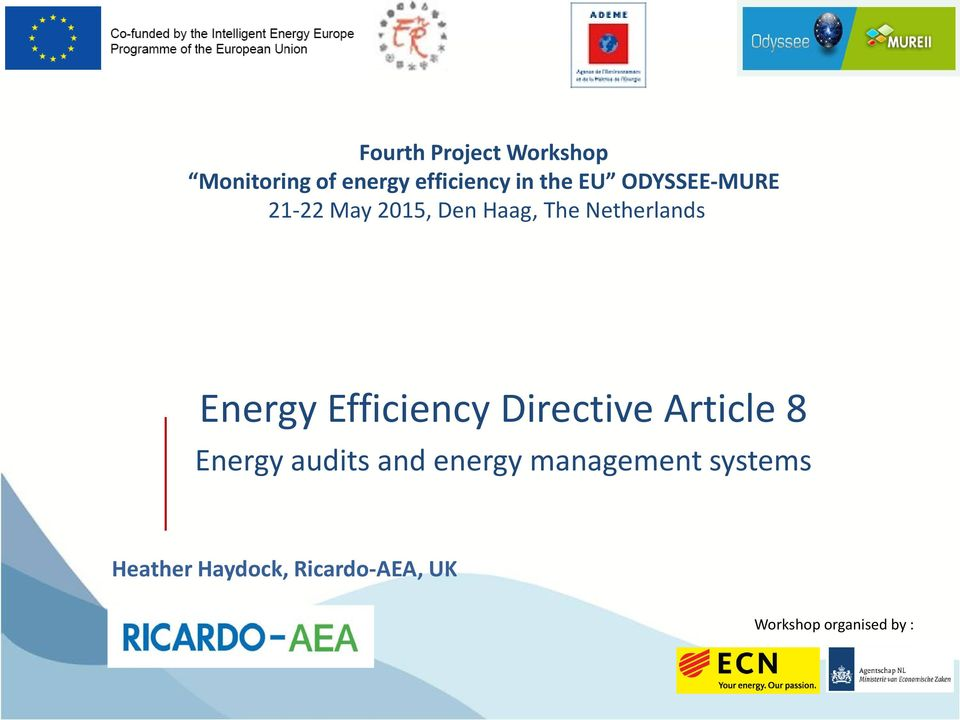 Efficiency Directive Article 8 Energy audits and energy