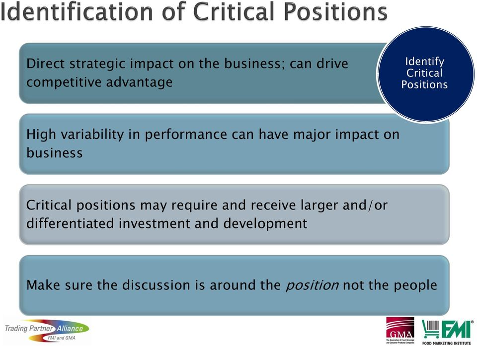 business Critical positions may require and receive larger and/or differentiated