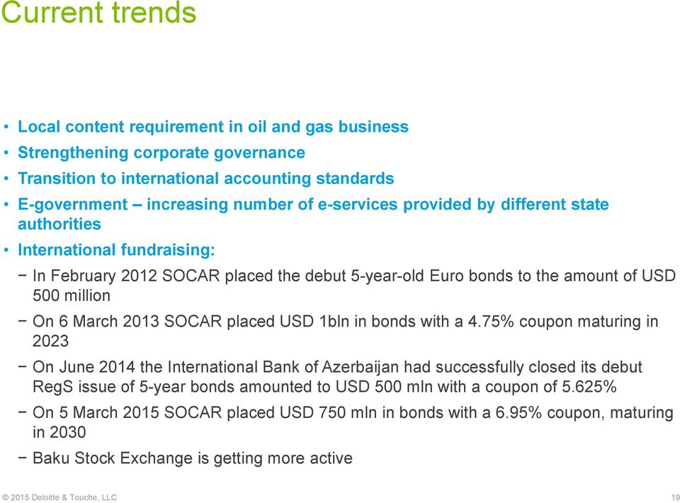 SOCAR placed USD 1bln in bonds with a 4.