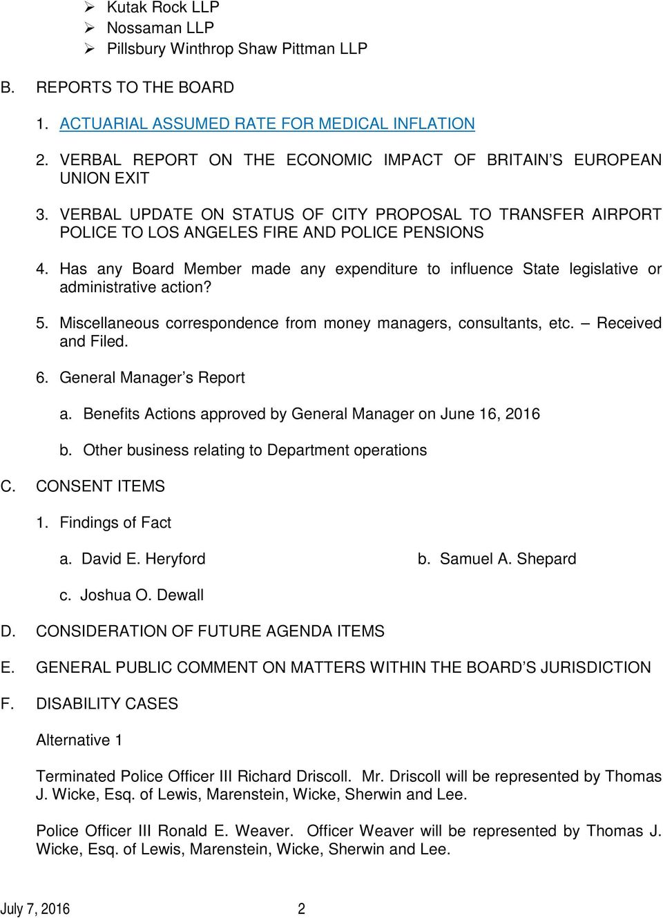 mr cagney report action expenditure pdf