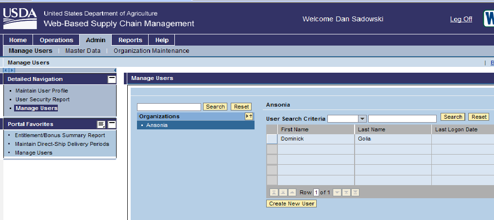 Manage Users Will Display the People Assigned to Your District in WBSCM If you created a portal