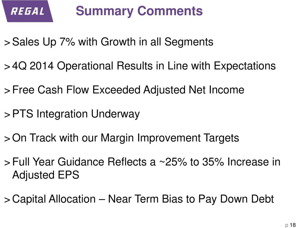 Underway > On Track with our Margin Improvement Targets > Full Year Guidance Reflects a